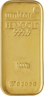 Goud kopen in de vorm van een goudstaaf van 1000 gram
