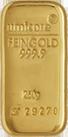 Een goudstaaf van 250 gram om fysiek goud te kopen