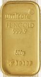 Een grote goudstaaf van 500 gram kopen voor beleggen in goud